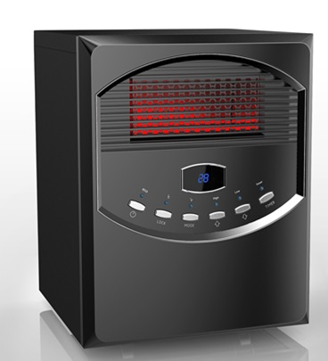 Infrared Cabinet Heater PH 91S Eco 500W/1000W/1500W Front Panel Push Button  Controls LED Display Remote Control 4 Infrared Quartz Tubes